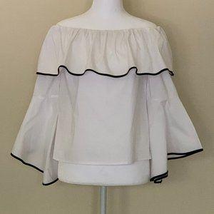 Off-the-Shoulder Bell Sleeve Blouse